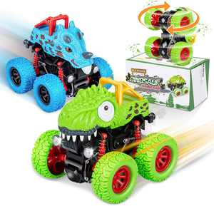 GIFT4KIDS Dinosaur 360° Stunt Cars Vehicles Toys For Kids Boys/Girls, Best Outdoor and Birthday Gifts (2 Pack)
