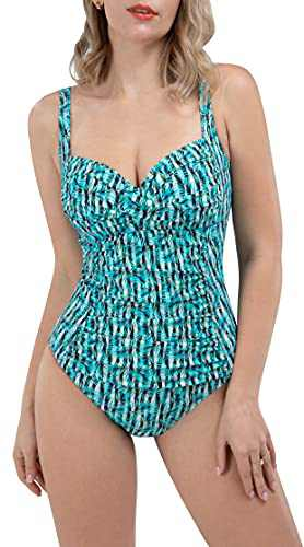 LIFE SKY Women's One Piece Swimsuits Slimming Bathing Suits Beach Swimwear