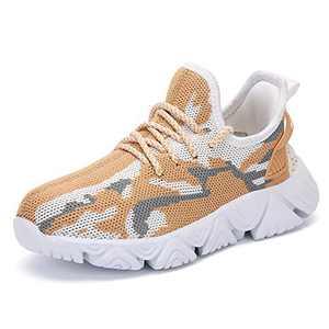 DVTENI Unisex-Child Basketball Shoes Sneaker Student Running Shoes Antiskid Children Tennis Shoes Outdoor Sports Shoes Parent Child Shoes(Toddler/Little Kid/Big Kid) Khaki