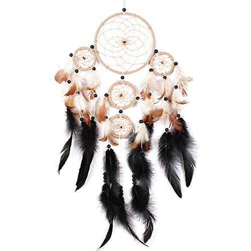 lasoour Dream Catcher, Handmade Indians Traditional Circular Net for Wall Hanging Decor, Feather Dream Catcher for Bedroom Kids, Home Decoration Wedding Party Blessing Gift 6.3'' x 30''