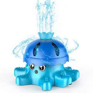 SAOCOOL Kids Sprinkler Water Toys for Yard - Spinning Octopus Outdoor Sprinkler for Kids and Toddlers - Splashing Fun for Summer Activities