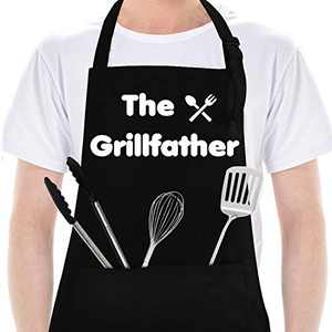 Funny Aprons for Men,withPockets, Gifts for Men, Dad,Kitchen Chef Cooking Mens BBQ Grilling Apron