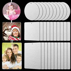 30 Pieces Sublimation Air Freshener Blanks DIY Air Freshener Sheets Heat Press Felt Air Freshener Sheets with Elastic Cord for DIY Heat Press Ornament Car Home, 3 Styles