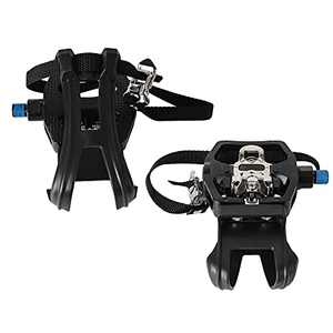 INPUSLIN SPD Pedals 9/16'' Spin Bike Pedals Hybrid Pedal with Toe Clips and Straps Suitable for Spin Bike, Exercise Bikes and All Indoor Bike