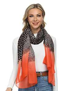 Scarfs for Women Lightweight Print Floral Pattern Scarf Shawl Fashion Scarves Sunscreen Shawls for Spring Fall