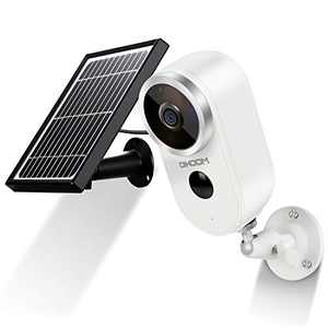 Outdoor Solar Security Camera Wireless 1080P Rechargeable Battery Powered WiFi Camera 2 Way Audio, DIHOOM HD Video Wirefree IP Camera Motion Alarm Home Surveillance Camera System