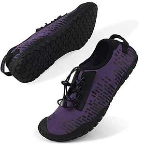 Oranginer Womens Quick Dry Water Shoes Breathable Athletic Shoes for Water Sports Outdoor Barefoot Sneakers Purple Size 7