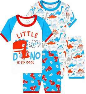 Boys Pajamas Summer Children Dinosaurs Sleepwear Baby Kids Pjs Clothes Size 7