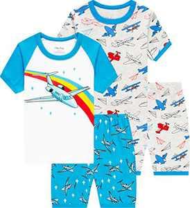 Boys Airplane Pajamas Summer Children Sleepwear Toddler Kids Pjs Clothes Size 10