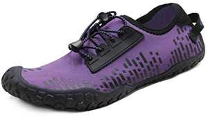 Oranginer Womens Quick Dry Water Shoes Breathable Athletic Shoes for Water Sports Outdoor Barefoot Sneakers Purple Size 8.5