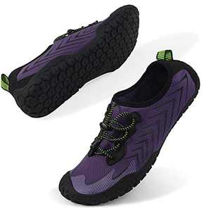 Oranginer Womens Quick Dry Water Shoes Breathable Athletic Shoes for Water Sports Outdoor Barefoot Sneakers Purple Size 9