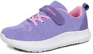 Girls Running Shoes Slip On Casual Comfortable House Walking Sneakers for Big Kids Boys Strap Tennis Shoes Fall Purple Size 2.5 M US Little Kid
