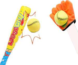 ZHIMO Toy Baseball Set for Kids, Baseball Bat and Ball for Toddlers, Outdoor Educational Sports Game for Boys Girls