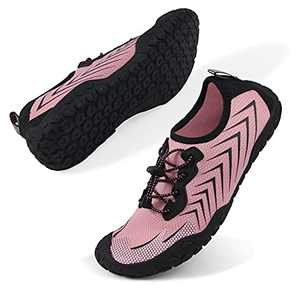 Oranginer Womens Quick Dry Water Shoes Breathable Athletic Shoes for Water Sports Outdoor Barefoot Sneakers Pink Size 9