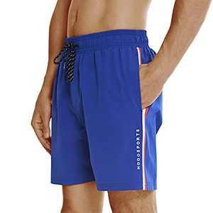 "HODOSPORTS Men's Quick-Dry 7"" Swim Trunks Royal Blue"