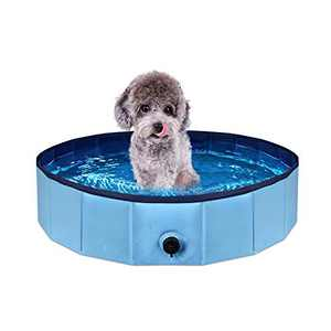 Vanblue PVC Foldable Dog 31.5 x 8in Pool Portable Pet Bathing Tub Kiddie Pool Outdoor Swimming Pool for Dogs Cats (31.5 x 8in)