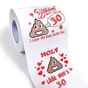 Givviza Funny Toilet Paper 30th Birthday Decorations Gag Gifts for Her or Him…
