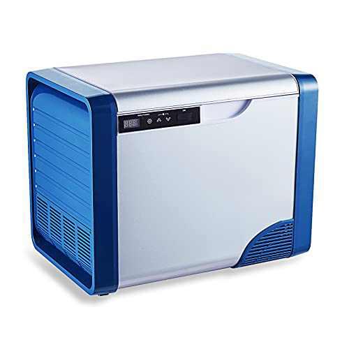 Car Refrigerator 21 Quart 12 Volt Refrigerator -4℉ to 68℉ Portable Freezer for Truck Car RV Outdoor and Home use 12/24V DC and 100-240V AC, 20L Blue