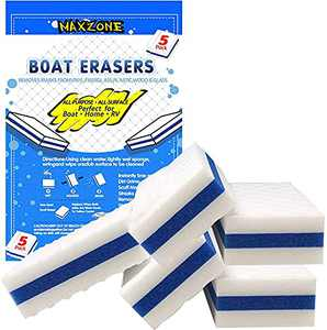 MAXZONE Mon's Gift Boat Scuff Eraser 5 Pack - Magic Boating Accessories for Cleaning Black Streak Deck Marks and More - Marine Products Boat Accessories