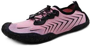 Oranginer Womens Quick Dry Water Shoes Breathable Athletic Shoes for Water Sports Outdoor Barefoot Sneakers Pink Size 5.5
