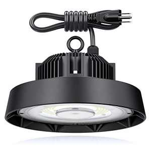HOTIME Led High Bay Light 150W 6500K, 22500 Lumen UFO LED High Bay Light Fixture, 5' UL Cable with US Plug. High Bay Led Light for Factory, Warehouse, Workshop(Newest Version, 1 Pack)