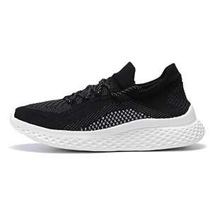 BayQ Slip On Tennis Walking Shoes for Men/Womens,Ultra Lightweight Comfortable Casual Running Sock Sneakers,for Gym Workout Travel Black