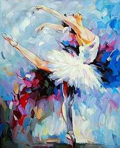 """Paint by Numbers for Adults Beginner & Kids, Oil Painting Kit with Paintbrushes and Acrylic Pigment Hanging Wire Paint by Number Kits on Canvas DIY Painting 16"""" x 20"""" Ballet Dance"""