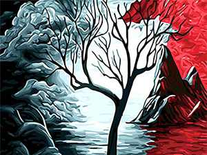Diamond Painting Kits for Adults Kids, DIY 5D Diamonds Art with Full Accessories Tools, Abstract Tree Paintings Dots Drill Crystal Embroidery, Gem Arts Dotz Crafts for Home & Room Décor, Ideal Gift