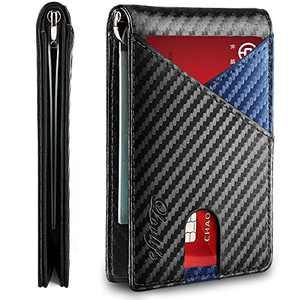 Lovlife Mens Wallet with Money Clip Slim RFID Front Pocket Wallets for Men Larger Capacity Up To 12 Cards Credit Card Holder