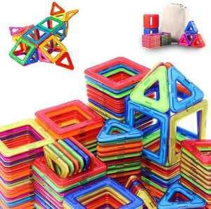 Magnetic Toys for 3 4 5 Year Old Kids Boys Girls Magnetic Building Blocks Tiles Set Creative Construction Toys Educational Gifts
