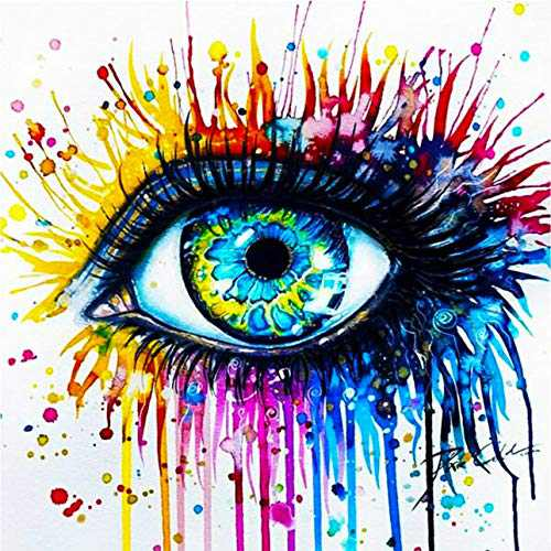 Creative Diamond Painting Kits for Adults, 5D Crystal Diamonds Art with Accessories Tools, Charming Eye DIY Art Dotz Craft for Home Décor, Ideal Gift or Self Painting
