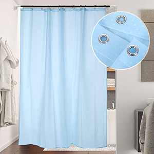 Lemecima Shower Curtain 70.8x78.8 Inches Hotel Style Thicken Bathroom Shower Curtain with 12 pcs Hooks-Blue