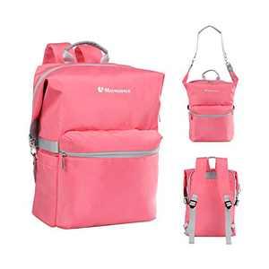 "Girls Cute Small Casual Backpack Purse for Women Teens Kids Travel Daypack Convertible School Bags Medium Handbag Shoulder Purse Fits 14"" Laptop (Pink)"