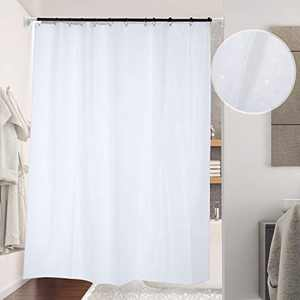 Lemecima Shower Curtain 70.8x78.8 Inches Hotel Style Thicken Bathroom Shower Curtain with 12 pcs Hooks-White