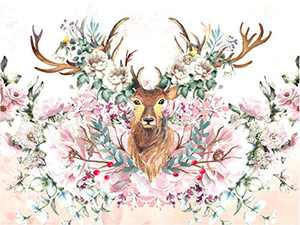 Animal Diamond Painting Kits for Adults, 5D Crystal Diamonds Art with Accessories Tools, Flower Elk DIY Art Dotz Craft for Home Décor, Ideal Gift or Self Painting
