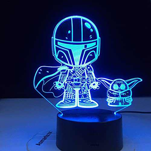 3D Illusion Night Light, 16 Color Change Decor Bedside Lamp Cool Unique Christmas Gifts for Boys Girls Adult Men Women Who Have Everything Boyfriend
