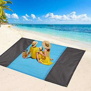 FAHZON Beach Blanket,Sandproof Waterproof Picnic Blanket,Sand Free Extra Large Oversized 9 ft X 7 ft Beach Mat,Portable Soft Lightweight Blanket for Travel Camping、Hiking Outdoor