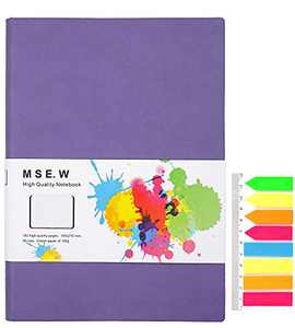 Journal Notebooks for Work,A5 Softcover Ruled Writing Journal for Women,Notebook Journal for Travelers,Writers,College,Men,Bloggers,5.7 x 8in,192 Pages Thick Lined Paper(Purple)