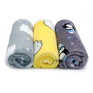 3 Pack Pet Blankets, Dog Blankets, Cat Blankets, Super Soft Warm Coral Fleece Pet Throw Pet Sleep Mat Pad Bed Seat Cover for Kitties, Small Dogs, Small Animals (25.6 x18 inch)