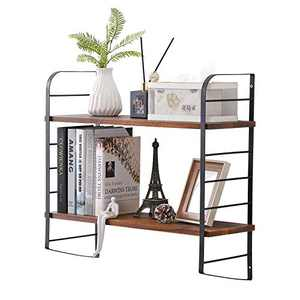 YIWANFW Rustic Floating Shelves Wall Mounted, Industrial Wall Shelves for Pantry Living Room Bedroom Kitchen Bookshelf (23.57.8521.5)