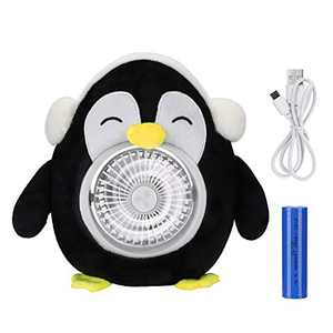 XAMSHOR Personal Fan Cute Animal Desk USB Fan, Portable Rechargeable Battery Operated Fan with 3 Speed for Table Home Office