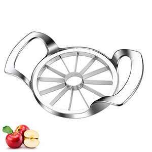 DAOQI 12-Blade Apple Slicer and Corer, Upgraded Version Apple Slicer, Apple Cutter, Stainless Steel Ultra-Sharp Fruit Apple Corer Tool, Divider for Up to 4 Inches Apples