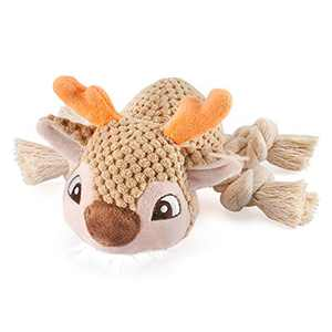 ZVV Plush Dog Toys, Sturdy Squeak Toys, Interactive Stuffed Dog Chew Toys Suitable for Small, Medium and Large Dogs Deer