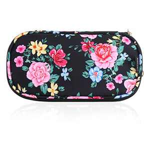 ANKUER Travel Makeup Bag Small Cosmetic Bag Organizer Cosmetic Case Pouch Gift for Women (Flower)