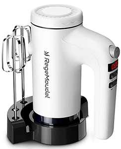 RegeMoudal 9-Speed Electric Hand Mixer with Digital Screen and Stand, Dough Hooks, Beaters and Whisk for Kitchen Supplies