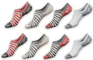 Macochoi Womens No Show Ankle Outdoor Fitness Breathable Comfy Sock Short Casual Cotton Thin No Slip Low Cut for Women Invisible Socks 13 Pairs Black White Grey Classic Casual Socks Packs F