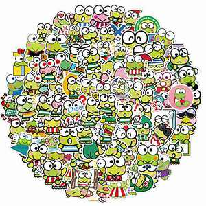 Frog Stickers Pack 100PCS - Cute Frog Cartoon Decorative Stickers Decals for Kids Adults Teens Gift, Waterproof Vinyl Stickers for Water Bottle Hydro Flask Mug Toy Car Guitar Suitcase Durable