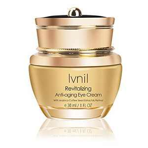 Ivnil Anti Aging Eye Cream for Dark Circles Puffiness Eye Bags Anti Wrinkle & Firming Eye Cream with Retinol,Caffeine,Niacinamide and Hyaluronic Acid,30ml