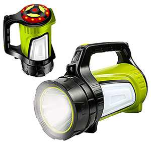 Newest KINSACH Rechargeable LED Spotlight,Multi-function Outdoor Long Shots Lamp Waterproof Searchlight Lantern Flashlights Search Lights for Hurricane Camping Exploring Emergency