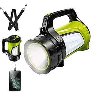 LED Lantern Flashlights,Rechargeable Multi-function Flashlight Outdoor Long Shots Lamp Waterproof Double Side Spotlights Searchlight for Hurricane Camping Exploring Searching Emergency
